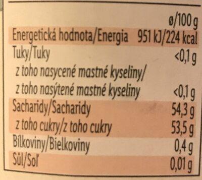Confitures extra cerises griottes - Výživové údaje - cs