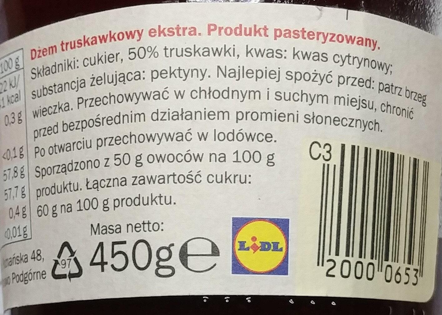 Strawberry Conserve - Składniki - pl
