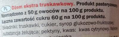 Dżem ekstra truskawkowy - Ingredients