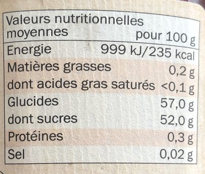 Strawberry Conserve - Informations nutritionnelles - fr