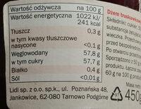 Erdbeere  marmelade - Wartości odżywcze - pl