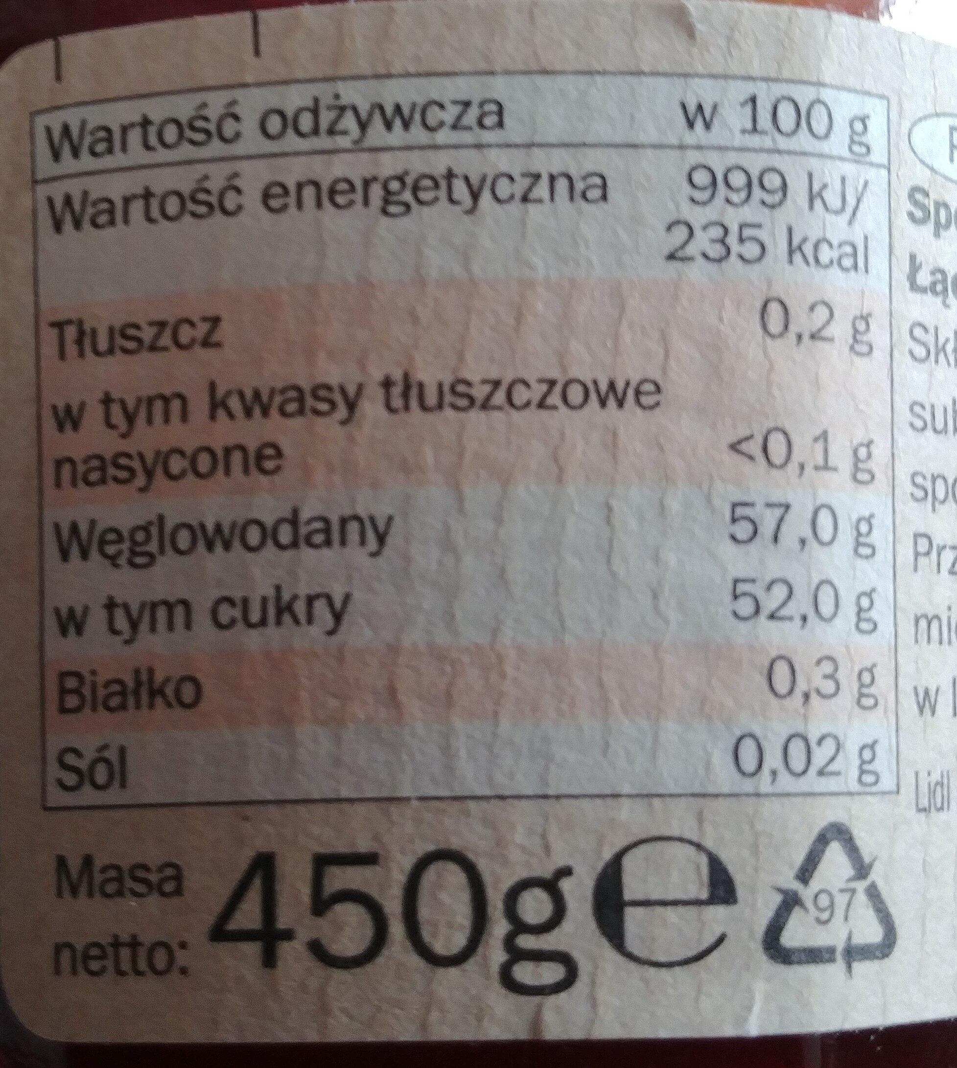 Dżem ekstra truskawkowy - Nutrition facts