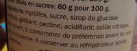 Confiture myrtilles - Ingrediënten - fr