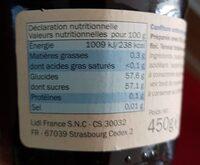 Confiture aux myrtilles - Voedingswaarden - fr