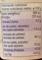 Frutos silvestres - Voedingswaarden - en