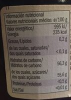 Fruits rouges - Nutrition facts