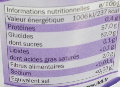 Confiture extra de fruits rouges - Informació nutricional