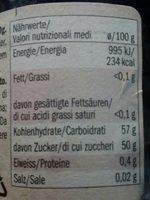 Schwarcirsche Ciliegie - Informació nutricional