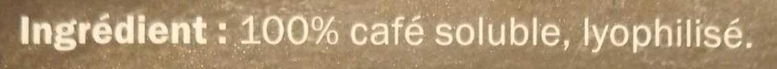 Café Lyophilisé - Ingredients - en