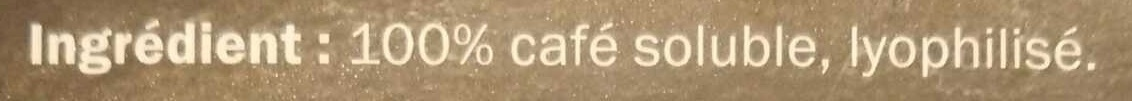 Café Lyophilisé - Ingrediënten - en