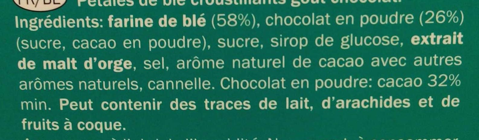 Flakers Choco - Ingrédients