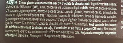 Bon Gelati Eiscreme mit Schlagsahne - Ingrédients - fr