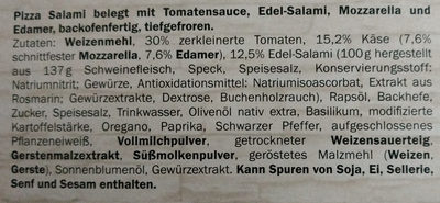 Deliziosa Salame - Ingredients