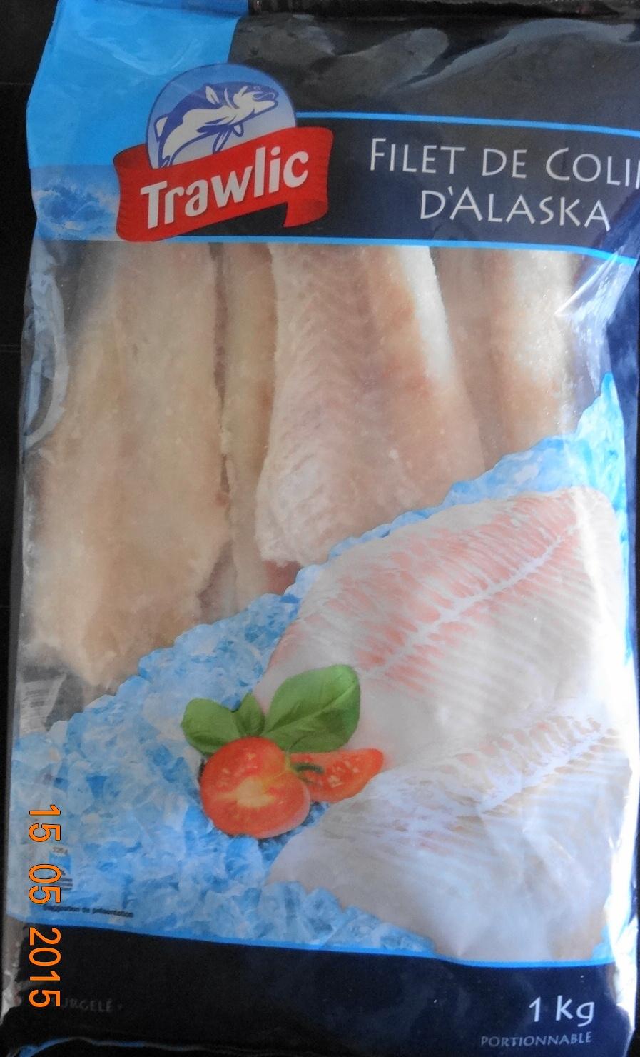Filet de colin dalaska surgel trawlic 1 kg soit 8 - Cuisiner du colin surgele ...