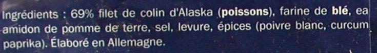 Colin d'Alaska - Ingrédients
