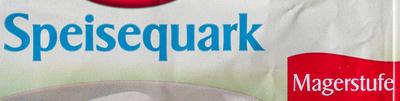 Speisequark Magerstufe - Ingredienti - de