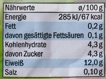 Speisequark Magerstufe - Valori nutrizionali - de