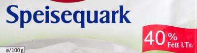 Speisequark 40% Fett i. Tr. - Ingredients