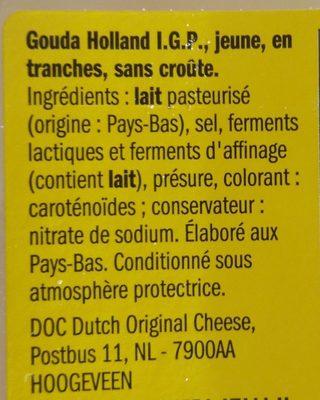 Gouda jeune - Ingredients