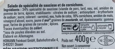 Salade a l'italienne aux cornichons - Ingrédients