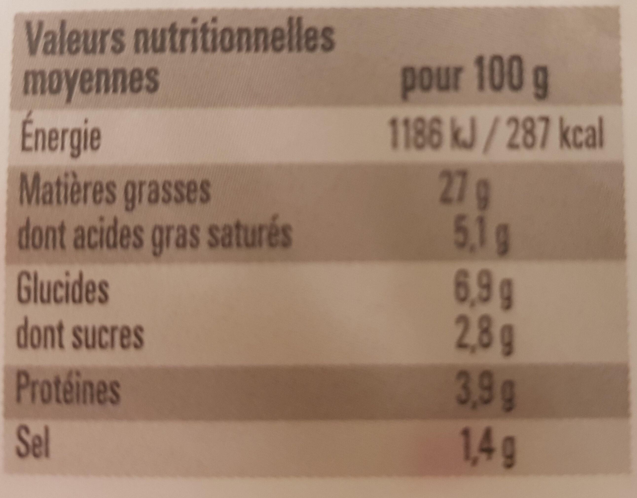 Salade a l'italienne aux cornichons - Informations nutritionnelles