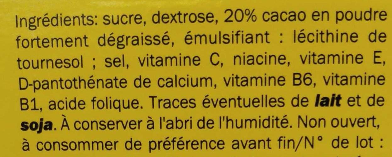 Cacao Island - Ingrediënten