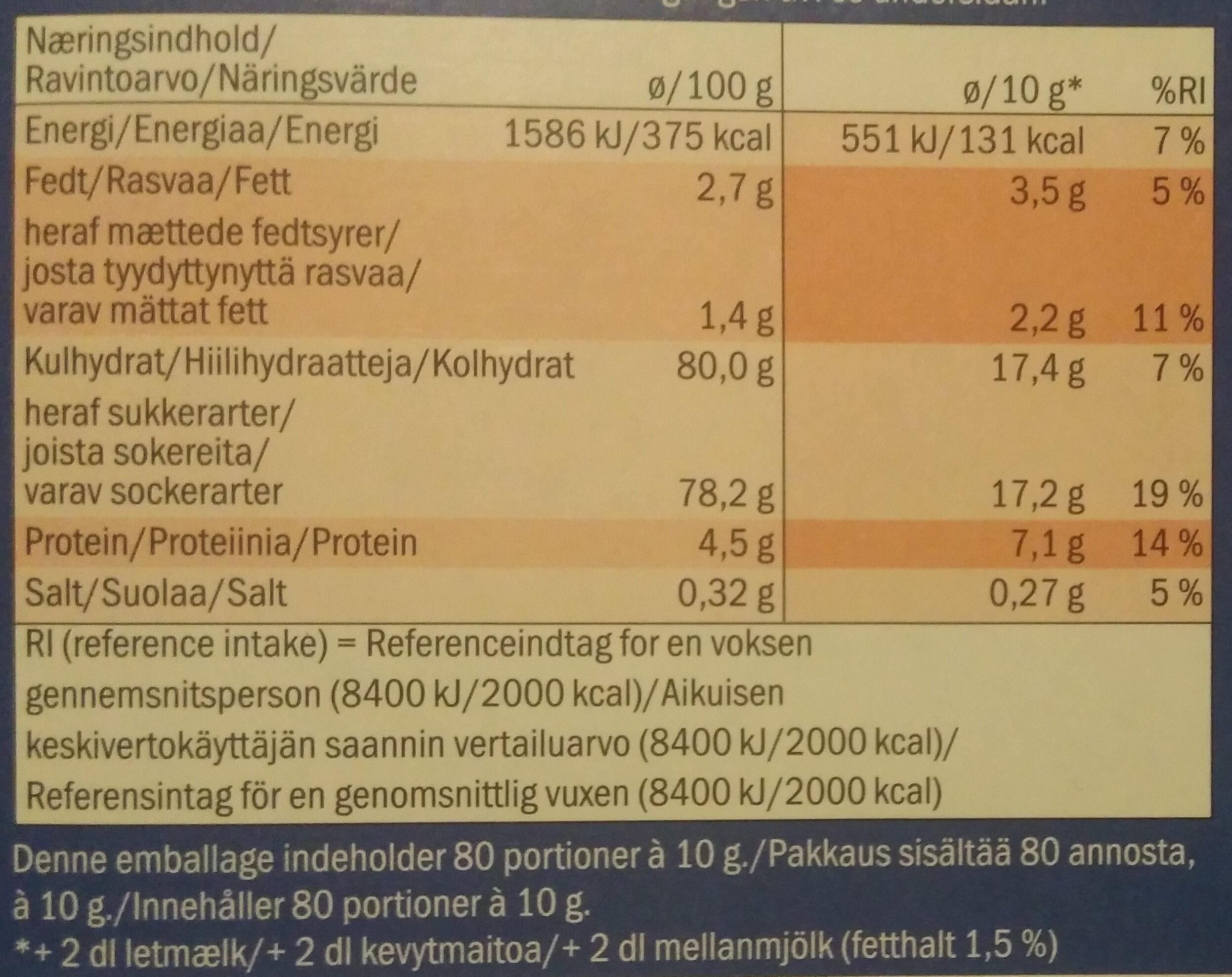 Cacao Island - 7 vitamines - Ravintosisältö - fi