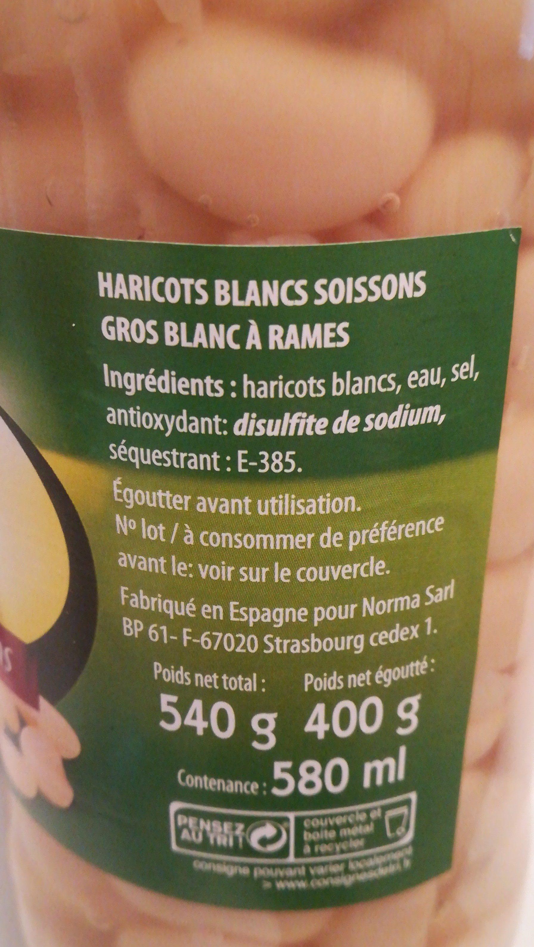 Haricot blancs - Ingrédients - fr