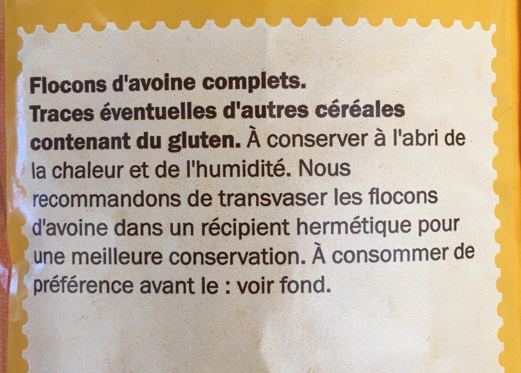 Haferflocken Zart - Ingrédients - fr