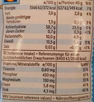 Flocons d'avoine complets - Nährwertangaben - de