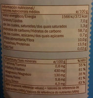 oatmeal - Información nutricional