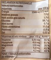 Haferflocken Zart - Informations nutritionnelles - fr