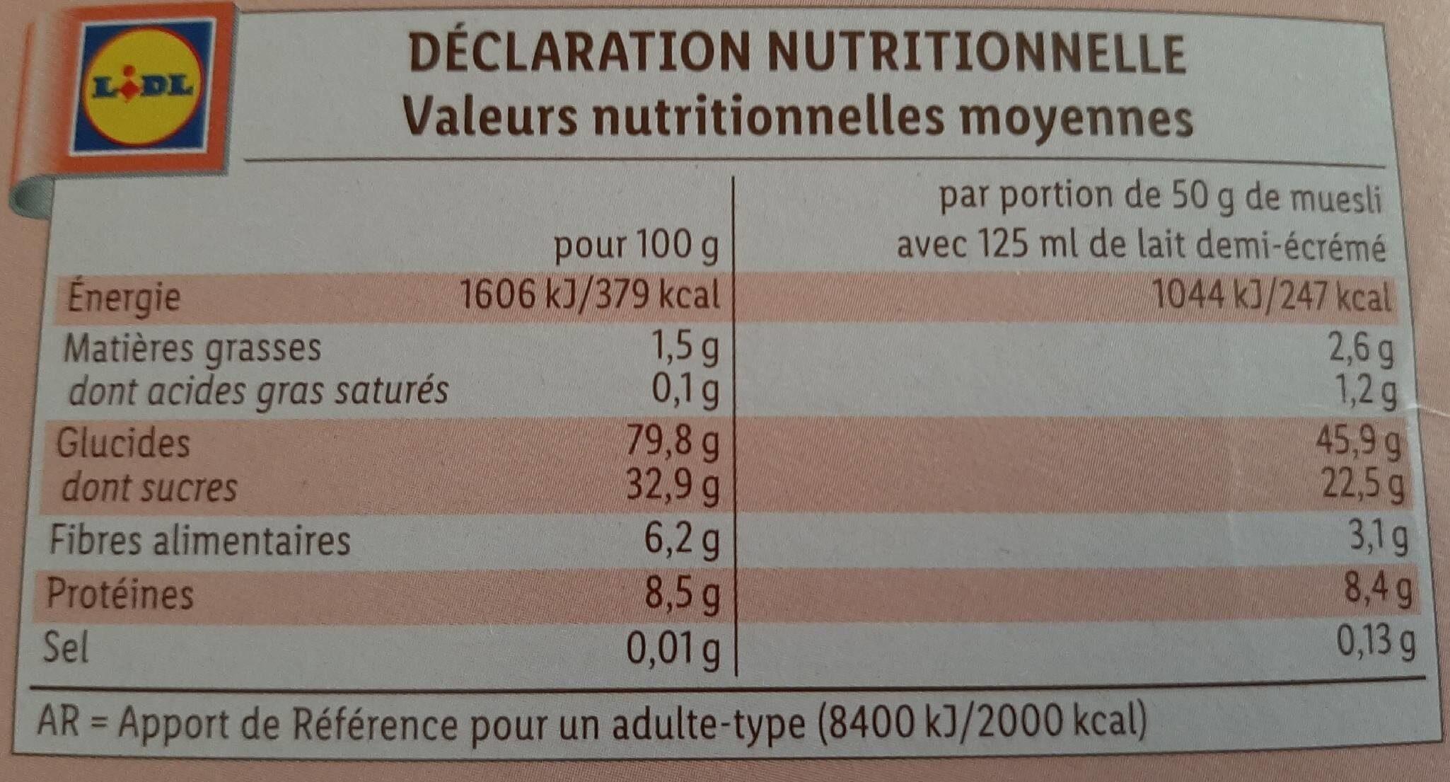 Golden puffs - Información nutricional - fr