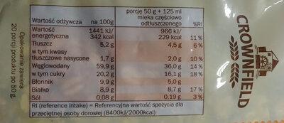 Multifrucht Müsli - Wartości odżywcze - pl