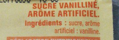 Sucre vanillé - Ingrédients - fr
