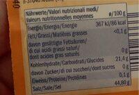 Backpulver - Informations nutritionnelles - fr