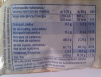 Raisins secs - Información nutricional - es