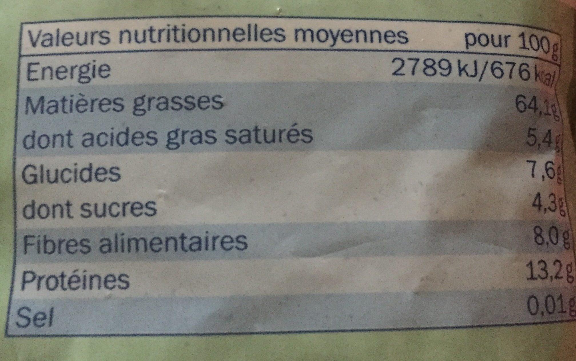 Noisettes en poudre - Nutrition facts - fr