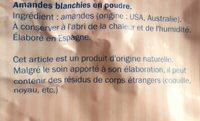 Amandes en poudre - Ingredients