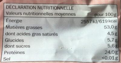 Amandes en poudre - Nutrition facts - fr