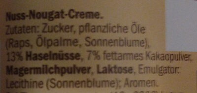 Choco nussa - Ingrediënten