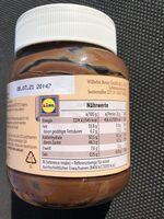 Nuss-Nougat-Creme - Ingredientes - de