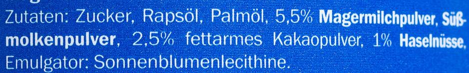 Streifennutella Choco Duo - Ingredients - de