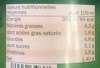 Salsa allá bolognesa - Informations nutritionnelles - fr