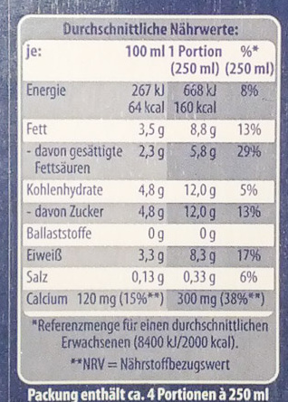 Mandarinen - Nutrition facts - de