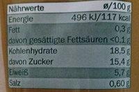 Purée de tomates - Nährwertangaben - de