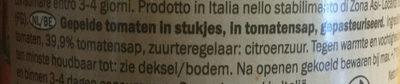 Tomaten gestückelt Tomates pelées en morceaux - Ingrediënten - nl