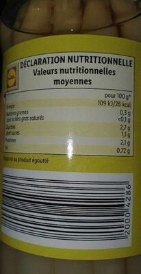 Asperges - Informations nutritionnelles - fr