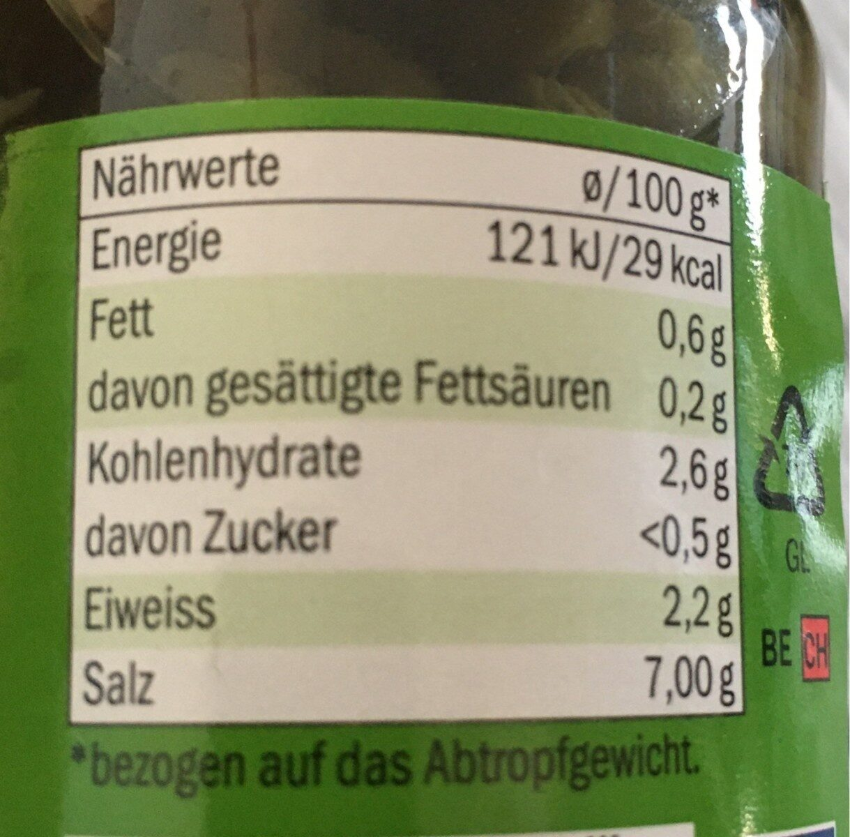 Kapern Surfines  gewürz - Nutrition facts - de
