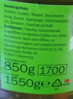 Gurkentopf - Ingredients - de